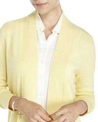 Magaschoni - Yellow Open Cashmere Cardigan - Lyst