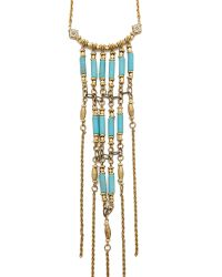 Vanessa Mooney - Metallic Walkin' After Midnight Necklace - Gold/turquoise - Lyst