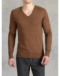 John Varvatos - Natural Superfine Merino Wool Sweater for Men - Lyst