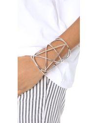 Pamela Love - Metallic Mini Pentagram Cuff - Antique Silver - Lyst