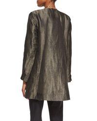 Eileen Fisher - Green Long-sleeve Herringbone Swing Jacket - Lyst