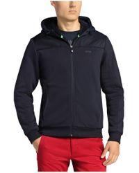 BOSS Green - Blue Sweatshirt Jacket 'snuggel' In Cotton for Men - Lyst