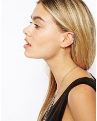 ASOS - Metallic Feather Ear Cuff - Lyst