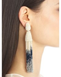 Oscar de la Renta | Metallic Ombre Tassel Earrings | Lyst