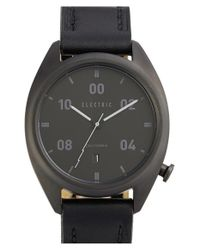 Electric - Black 'ow01' Leather Strap Watch - Lyst