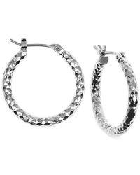 Jones New York | Metallic Small Hammered Hoop Earrings | Lyst