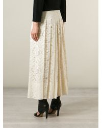 Givenchy - Natural Floral Lace Skirt - Lyst
