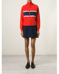 Jil Sander Navy - Blue Striped Sweatshirt - Lyst