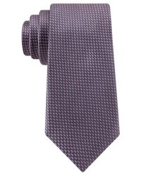 Michael Kors | Gray Michael Double Dash Slim Tie for Men | Lyst