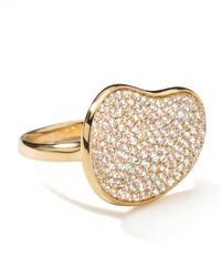 Ippolita | Metallic Stardust Gold Diamond Bean Ring | Lyst