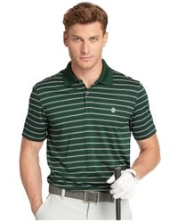 Izod | Green Feeder Striped Jersey Performance Golf Polo for Men | Lyst