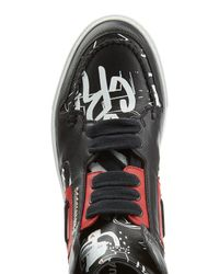 DSquared² - Blue Leather High-Top Sneakers for Men - Lyst