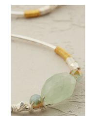 Anthropologie | Green Cosmia Crystal Hoop Earrings | Lyst