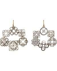 Judy Geib - Metallic Wheel Hoop Earrings - Lyst