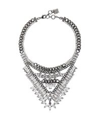 BCBGMAXAZRIA | Metallic Spike Stone Statement Necklace | Lyst