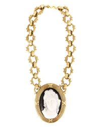 KTZ - Metallic Cameo Necklace - Lyst
