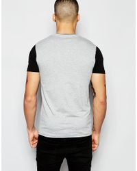 ASOS - Black Muscle T-shirt With Zip Pocket And Cut And Sew Sleeves for Men - Lyst