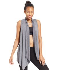 Calvin Klein | Gray Performance Draped Vest | Lyst
