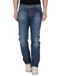 Corneliani | Blue Denim Trousers for Men | Lyst