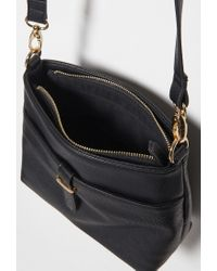 Forever 21 | Black Classic Faux Leather Crossbody | Lyst