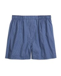 Brooks Brothers - Blue Slim Fit Stripe Check Boxers for Men - Lyst