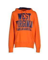 Franklin & Marshall - Orange Sweatshirt for Men - Lyst
