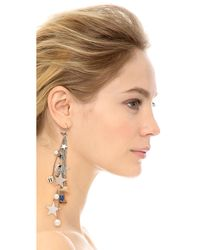 Venessa Arizaga | Metallic Cowboys & Aliens Earring - Silver Multi | Lyst