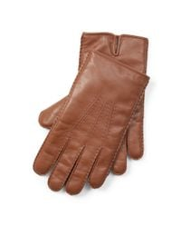 Polo Ralph Lauren | Brown Cashmere-lined Leather Gloves for Men | Lyst
