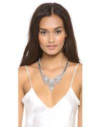 DANNIJO - Metallic Vala Clear Crystal Necklace Clear - Lyst