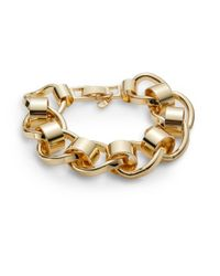 Nine West - Metallic Sculpted Link Bracelet/goldtone - Lyst