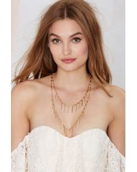Nasty Gal - Double Up Metallic Necklace - Lyst