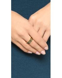Marc By Marc Jacobs - Metallic Dreamy Logo Band Ring - Lyst