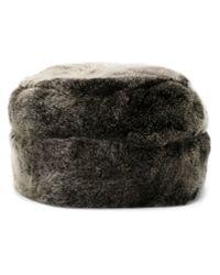 Woolrich - Gray Rabbit Fur Hat for Men - Lyst