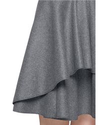 Alexander McQueen - Gray Asymmetric Peplum Layer Wool Felt Skirt - Lyst