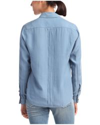 BOSS Orange - Blue Silk Blouse 'cirock' - Lyst