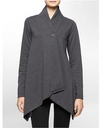 Calvin Klein | Gray White Label Performance Fleece Wrap Jacket | Lyst