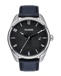 Nixon | Black 'the Bullet' Leather Strap Watch | Lyst