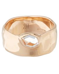 Monica Vinader | Metallic Rose Gold Vermeil White Topaz Wide Siren Band | Lyst