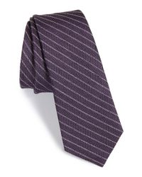 W.r.k. | Purple Stripe Wool & Cotton Tie for Men | Lyst