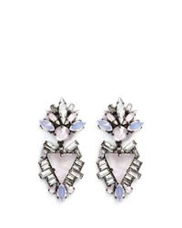 Erickson Beamon | Multicolor 'lady Of The Lake' Swarovski Crystal Triangle Drop Earrings | Lyst