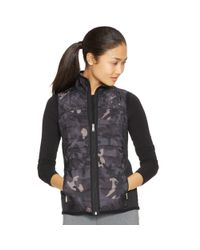 Ralph Lauren - Black Quilted-front Full-zip Vest - Lyst