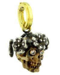Sylva & Cie - Yellow Miniature Juliet Skull Pendant - Lyst