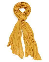 Echo - Yellow Solid Wrap - Metallic - Lyst