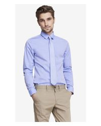 Express | Blue Modern Fit Iridescent 1mx Shirt for Men | Lyst