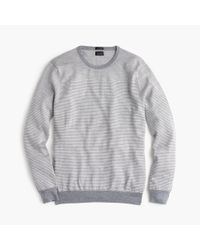 J.Crew - Gray Slim Merino Wool Sweater In Block Stripe for Men - Lyst