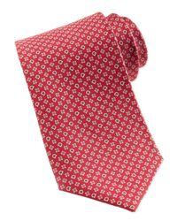 Ferragamo - Gancini Flower Silk Tie Red for Men - Lyst