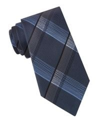 John Varvatos | Blue Mirror-plaid Tie for Men | Lyst