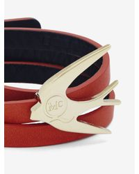 McQ - Red Swallow Triple Wrap Bracelet - Lyst