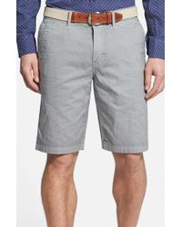 Tommy Bahama | Gray Denim 'eastbank' Flat Front Shorts for Men | Lyst