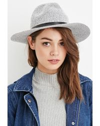 Forever 21 | Gray Textured Fedora | Lyst